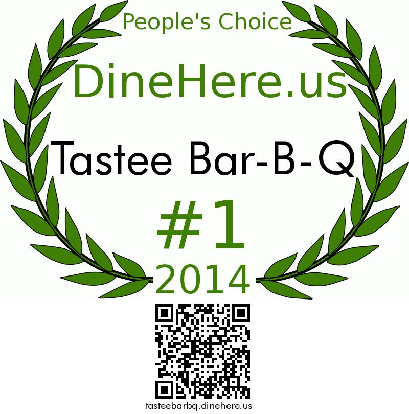 Tastee Bar-B-Q DineHere.us 2014 Award Winner